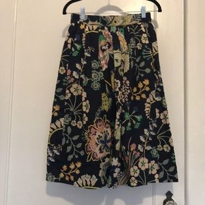 Jcrew Cotton Floral Print Midi Skirt, 0